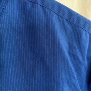 Alfani Shirts - Alfani Blue Striped Slim Fit Dress Shirt EUC